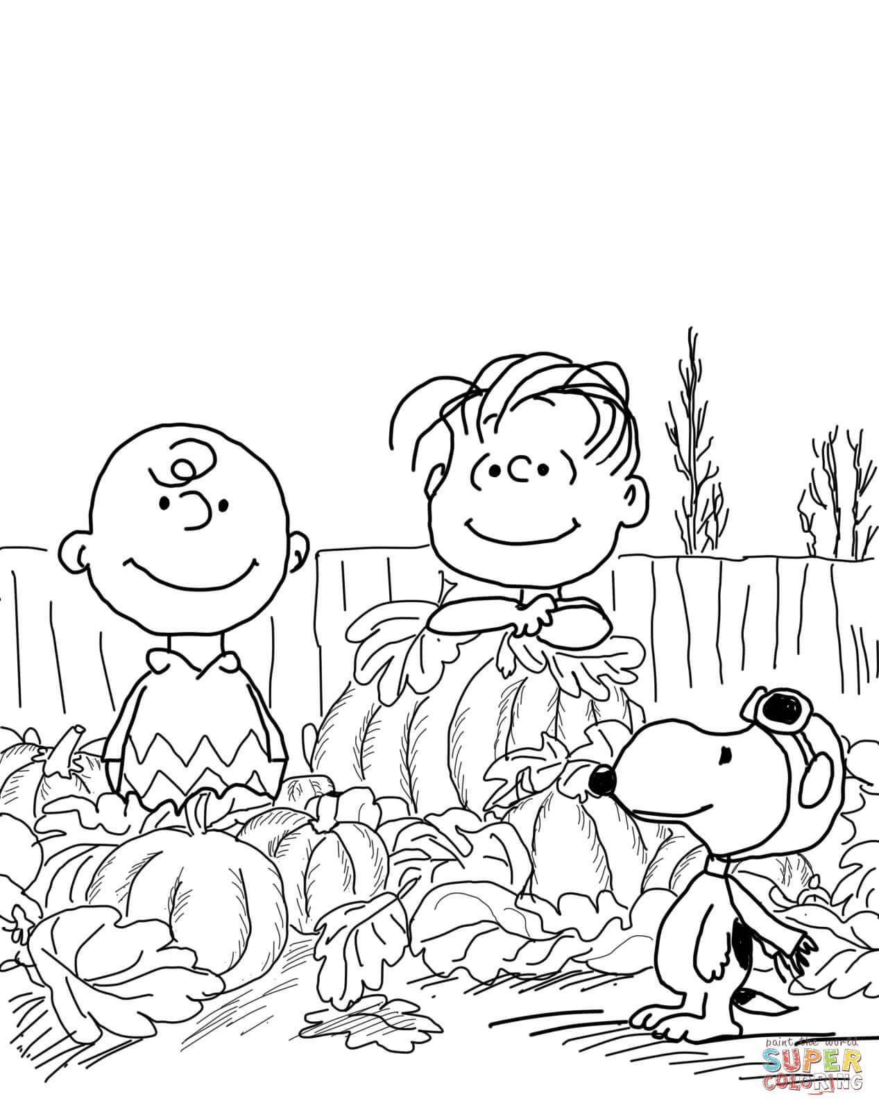 Halloween Coloring Pages Peanuts Gambar