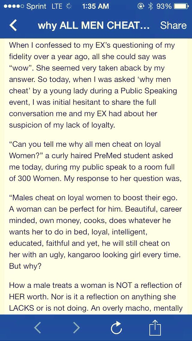 Why am i cheating  I love my wife … so why am I cheating on
