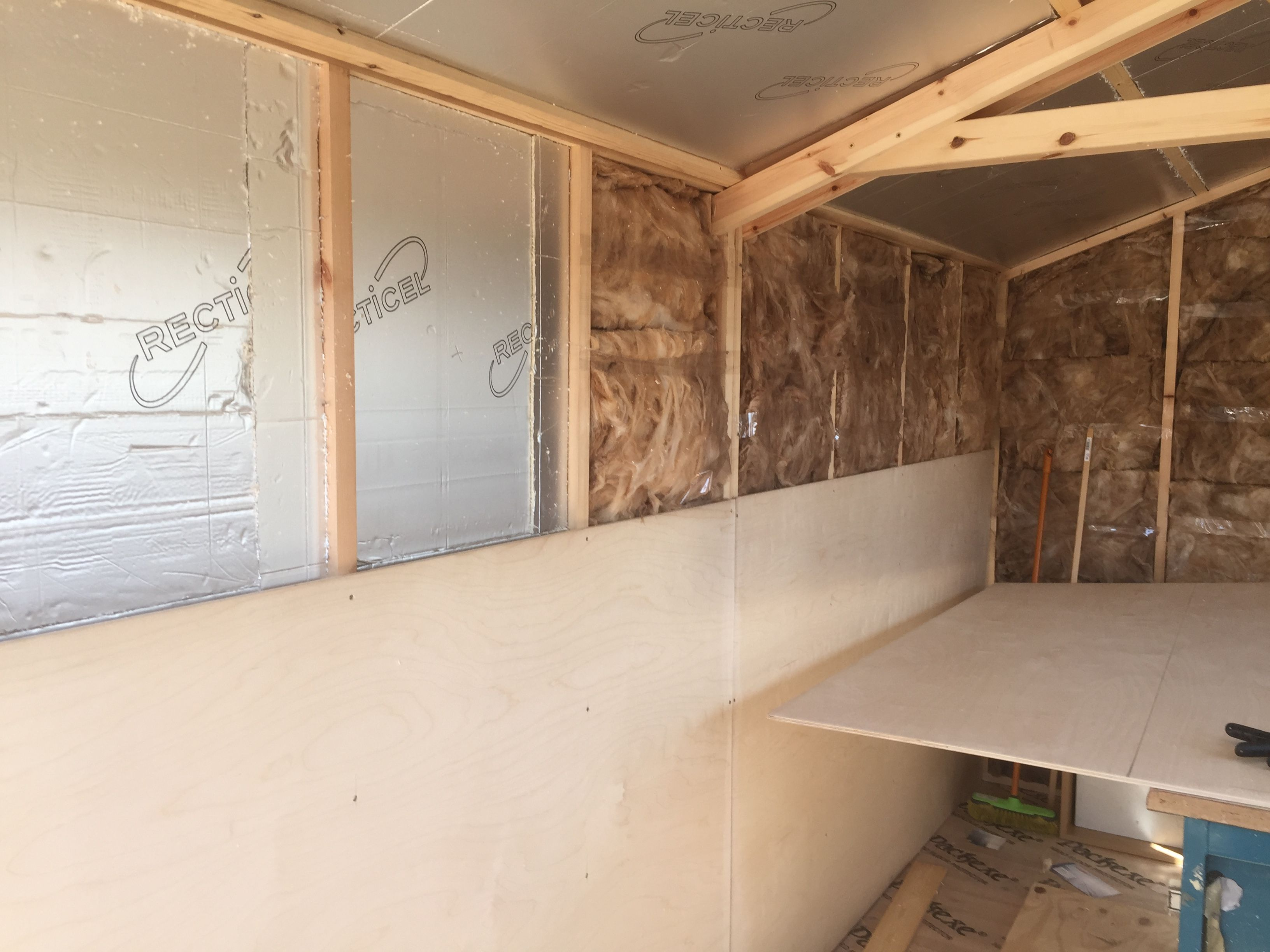 Insulation And Boarding Out Under Way Shed Decor Garage Makeover Studio Shed