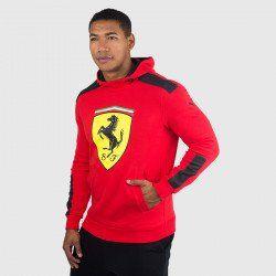 Puma Men S Ferrari Big Shield Hoodie Rosso Corsa Puma Sweatshirts Mens Outfits Team Jackets