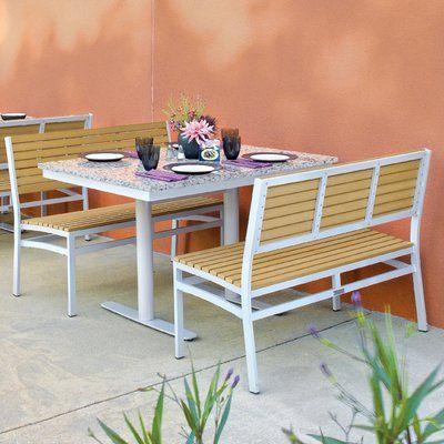 Oxford Garden Travira 3 Piece Bistro Set Bench Finish Tekwood