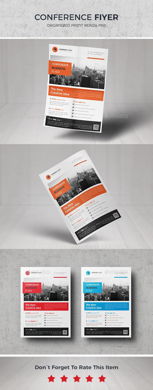 EventConference Flyer Template  Flyer Template Business Flyers