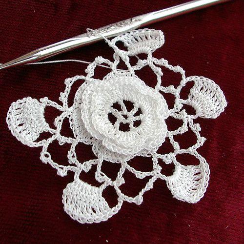 Irish Rose - tutorial …   编织   Pin…