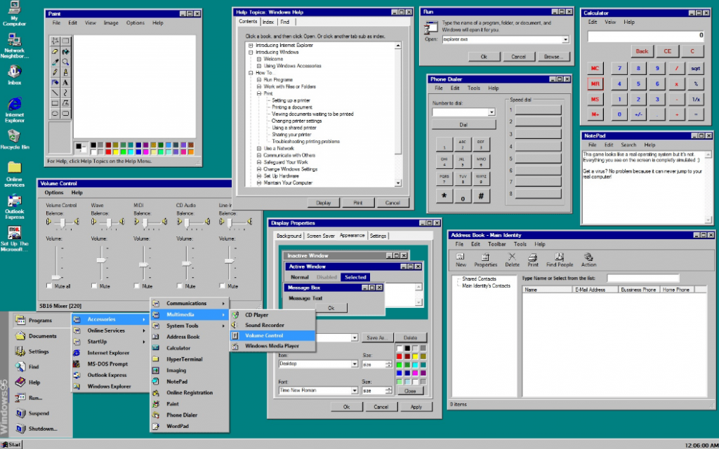 Windows 95 Features | Free Software ISO | Windows 95