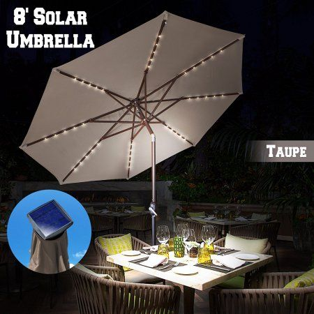 Solar Lights For Patio Umbrellas Unique Strong Camel 13Ft Solar Light Patio Umbrella Tilt Aluminum Sunshade Decorating Inspiration