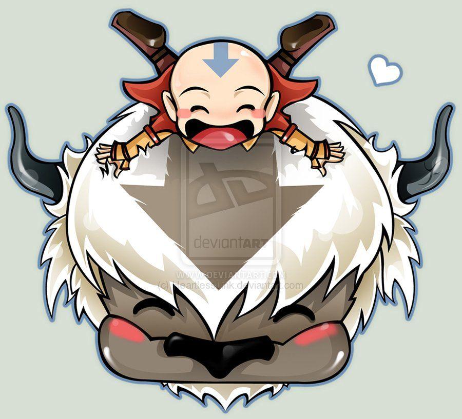 Avatar Chibi Aang And Appa By HeartlessLinkdeviantart