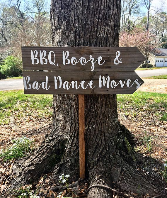 BBQ Booze & Bad Dance Moves, I Do BBQ Sign, Wedding Sign