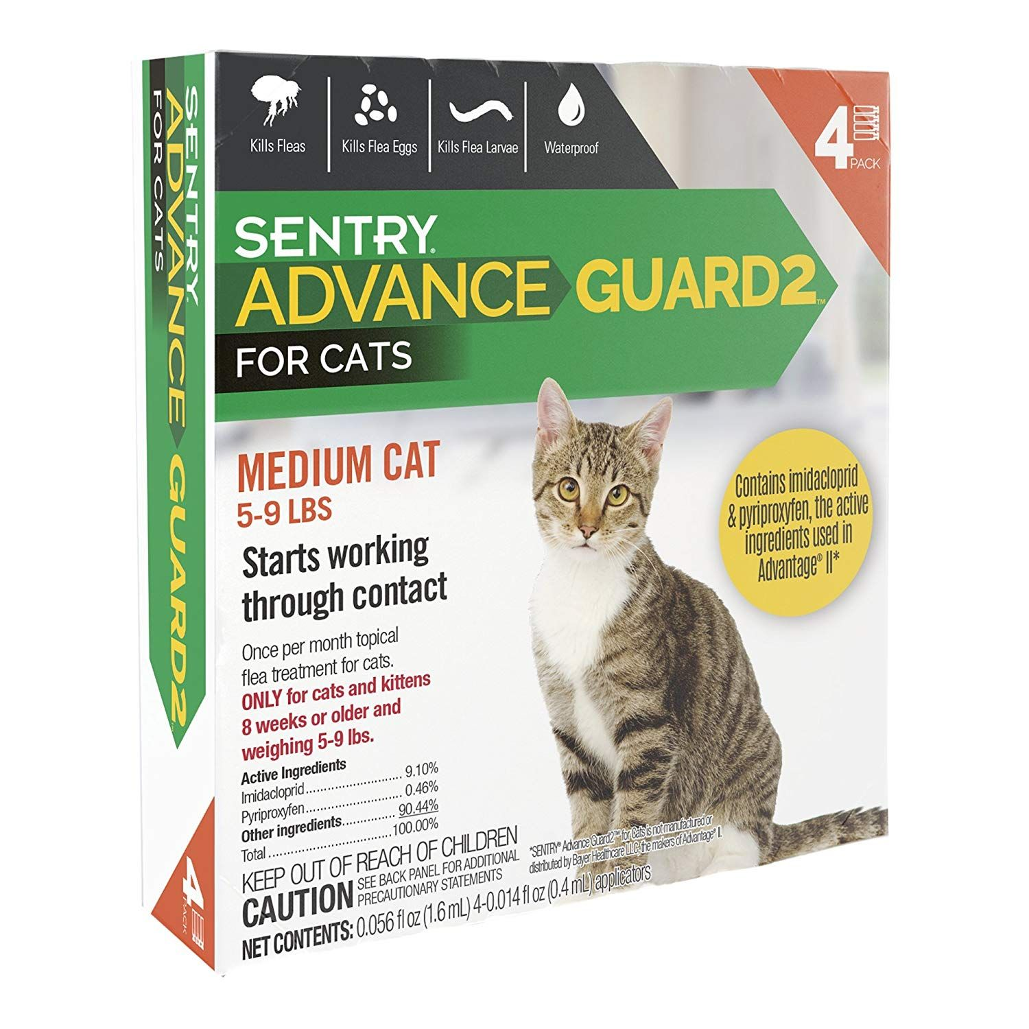 Sentry Advance Guard2 for Cats 5 to 9 lbs, 4 Month Supply