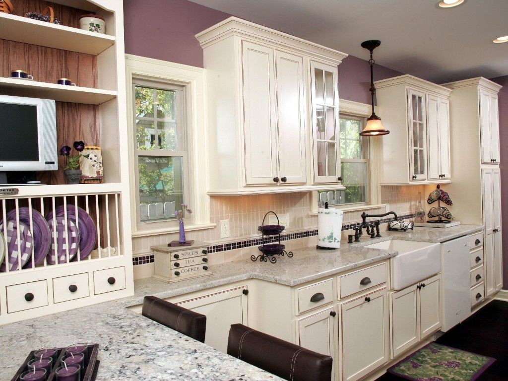 Upper Arlington, Ohio. White kitchen with oak accents