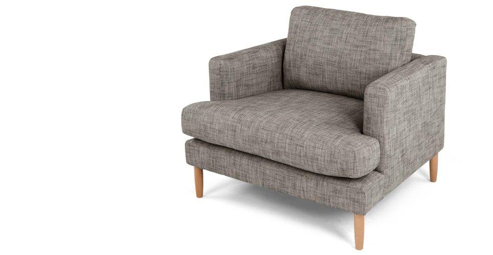 Kotka Large Armchair, Vintage Coal   made.com