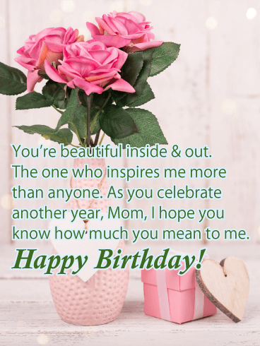 Lovely Charming Happy Birthday Card For Mother Birthday Greeting Cards By Davia Happy Birthday Mom Quotes Happy Birthday Quotes Funny Happy Birthday Mom Images