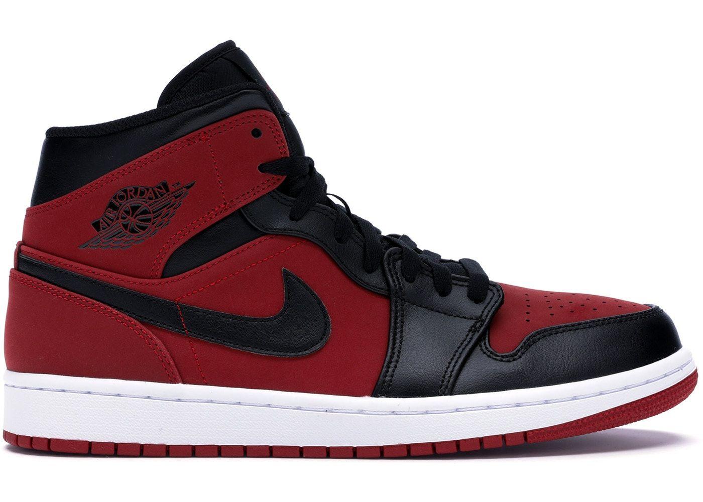 Jordan 1 Mid Gym Red Black Black Nike Shoes Nike Shoes Blue Air Jordans