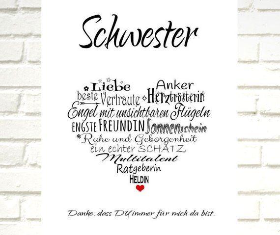 Print Druck Schwester Schwester Spruche Schwester Zitate Und