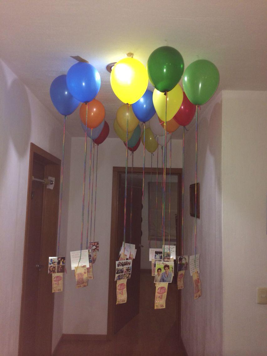 Sorpresa para mi hijo en su cumplea os 18 18 fotos y 18 for Como decorar el cuarto de mi hija
