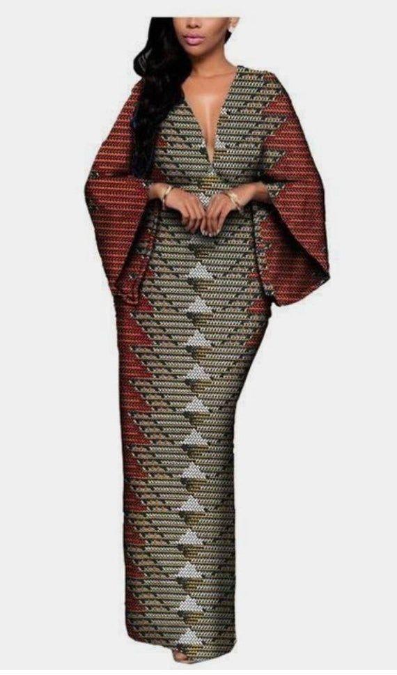 Dashiki dress, African women's dress, Dashiki prom