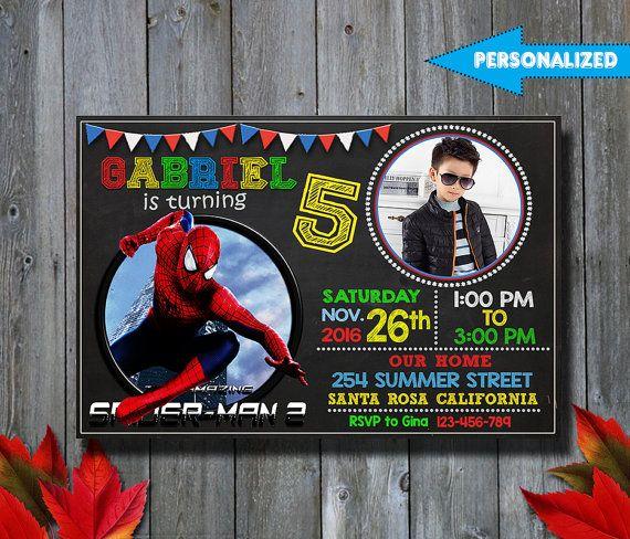 Invitación Spiderman Invitación De Cumpleaños De Spiderman