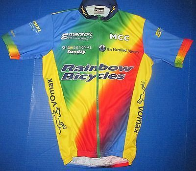 Great Rainbow Bicycles Cycling Jersey Emerson Toyota Auburn Maine Lewiston XS  Vomax S
