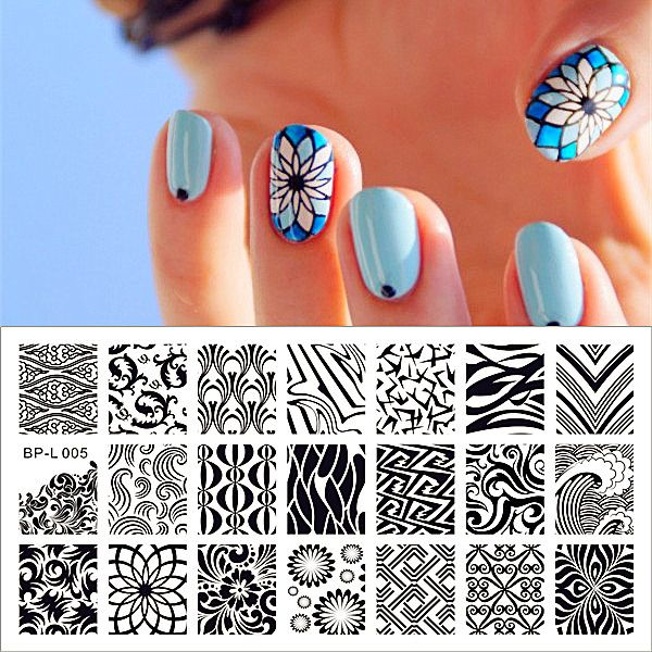 Wave \ Texture Patterns Nail Art Stamp Template Image Plate - stamp template
