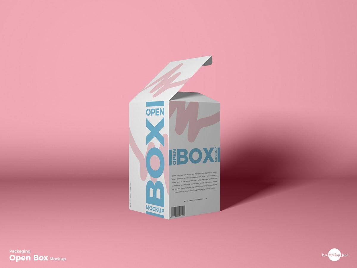Packaging Open Box Free Psd Mockup Box Mockup Mockup Free Psd