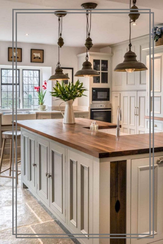 Kitchen Island Lighting Modern Rustic And Industrial Design Rustic Kitchen Kitchen Style Kitchen Cabinet Design