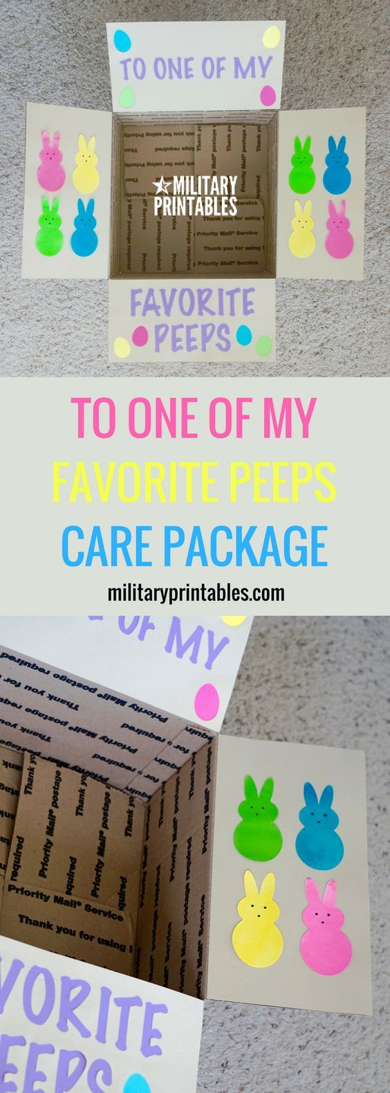 Easter care package spring candy peeps missionary package ideas easter care package spring candy peeps negle Images
