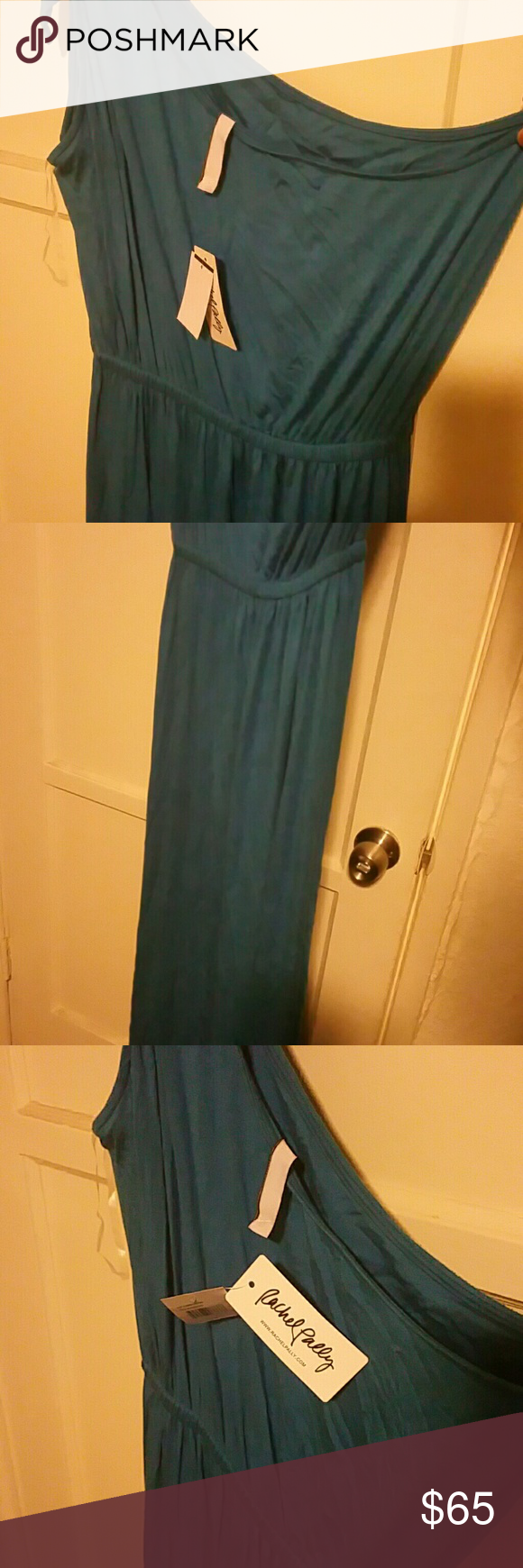Rachel pally blue one shoulder maxi dress nwt rachel pally blue