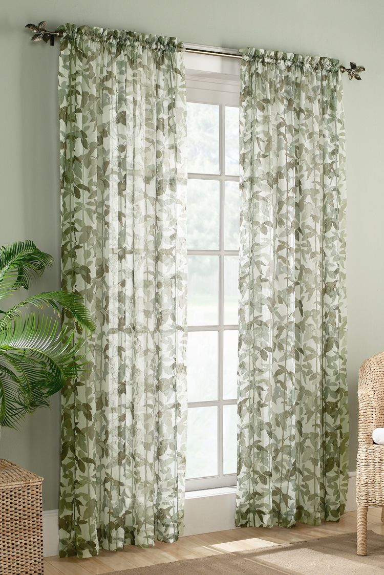 The Fiji curtains featuring a lovely multi color leaf and stem print ...