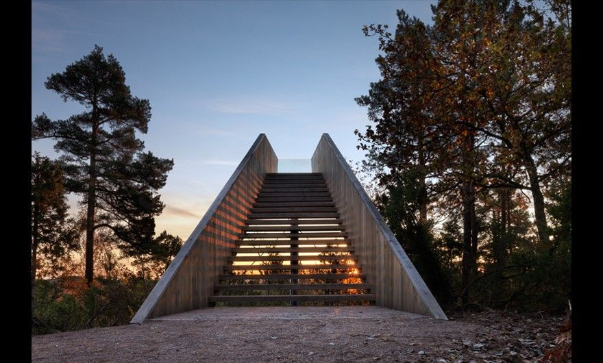 Forest Stair In Stokke Sculpture Park By Saunders
