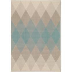 benuta Trends Kurzflor Teppich Dessert Beige/Blau 120×170 cm – Moderner Teppich für Wohnzimmer benut
