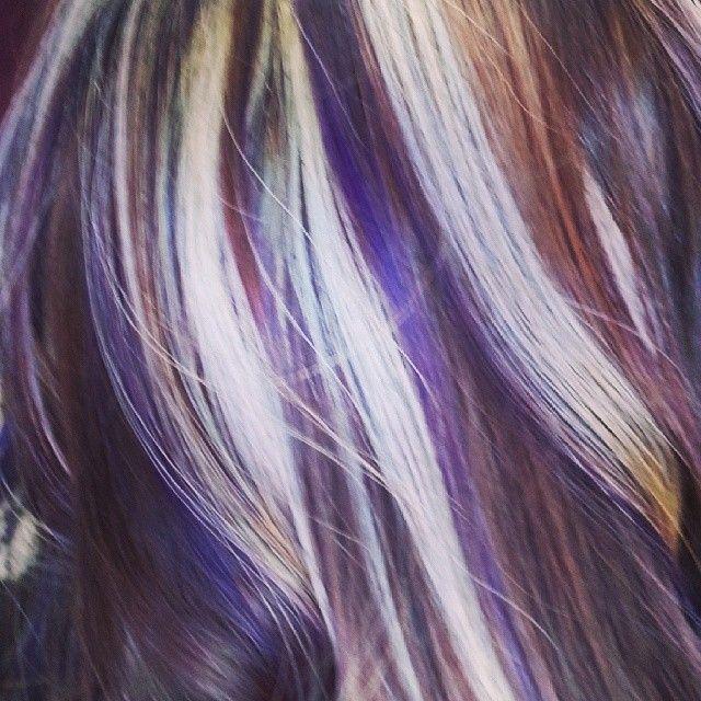 Bonde Purple Highlights Purple Blonde Hair Purple Brown Hair
