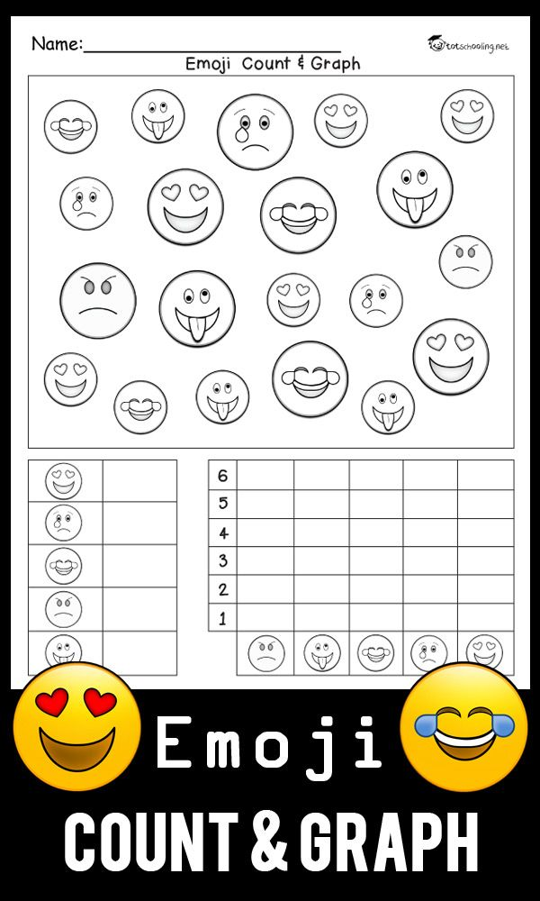 Emoji Count & Graph Worksheet | Mathe und Kind