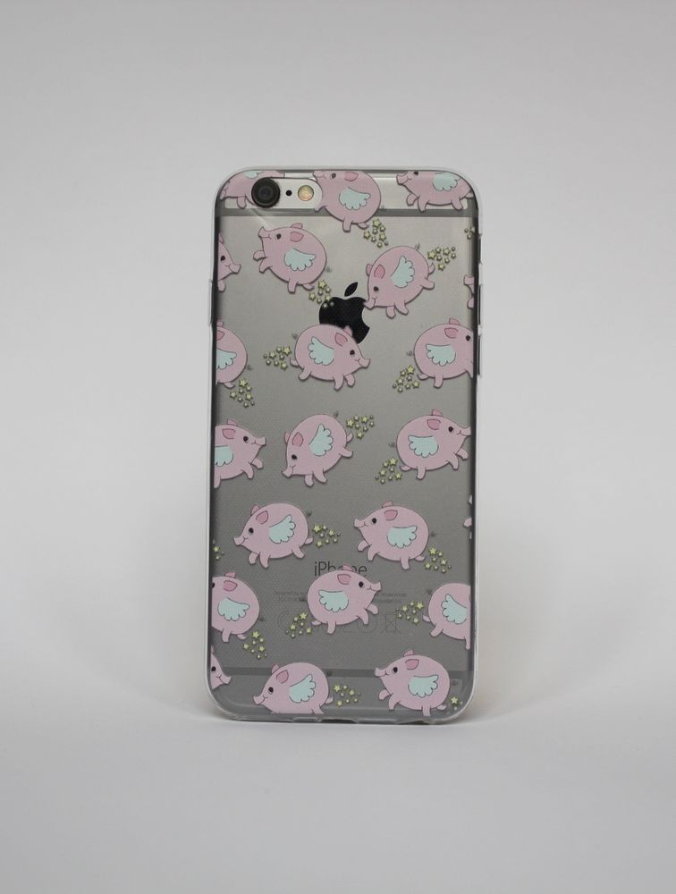 info for cdf4c a9147 Flying pig Iphone 6/6s printed TPU transparent case limited edition ...