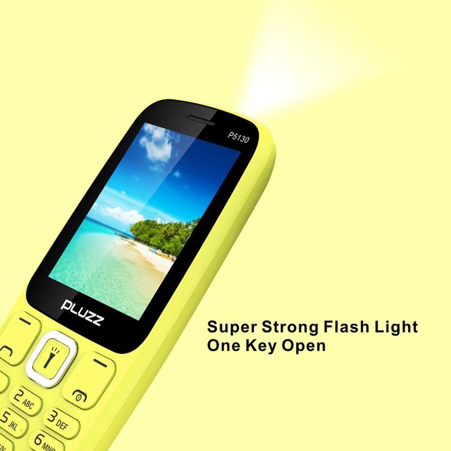 Pluzz P5130 2 4 800mah Bluetooth Fm Radio Mp3 With Led Flashlight Dual Sim Card Feature Phone Sale Banggood Com Dual Sim Feature Phone Led Flashlight