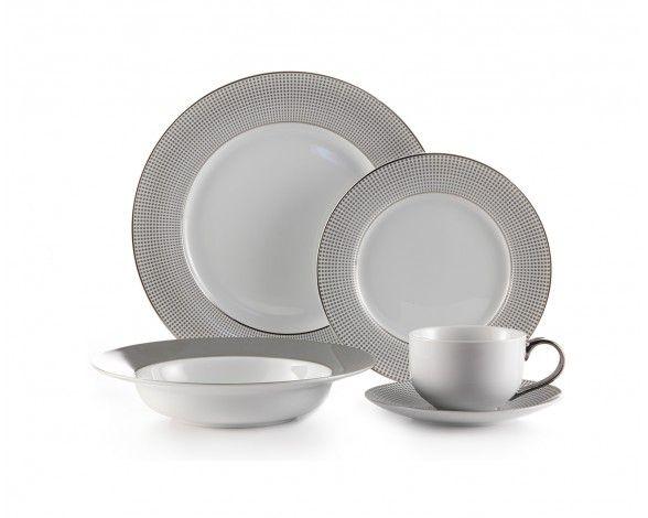 MICRODOT SILVER 20-PIECE DINNERWARE SET - Dinnerware - Dining | Stokes Inc. Canada\u0027s  sc 1 st  Pinterest & MICRODOT SILVER 20-PIECE DINNERWARE SET - Dinnerware - Dining ...