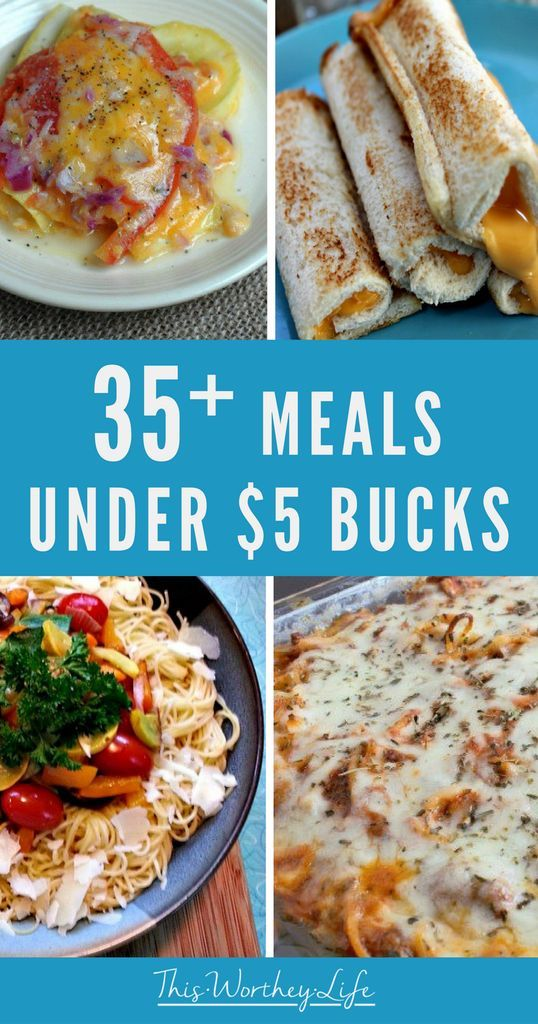 35+ Meals Under $5 Bucks images