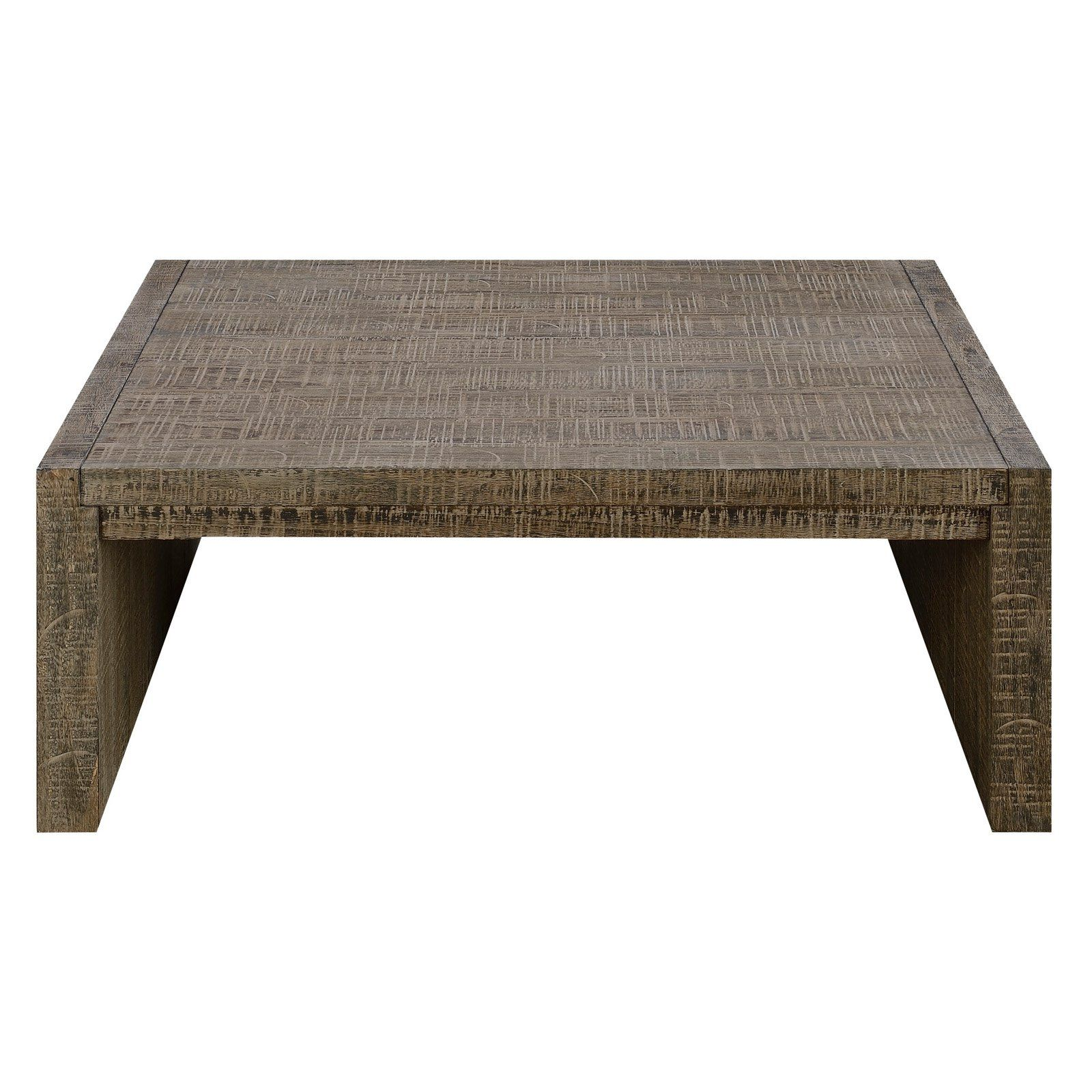 Emerald Home Cubix Square Coffee Table With Plank Style Top
