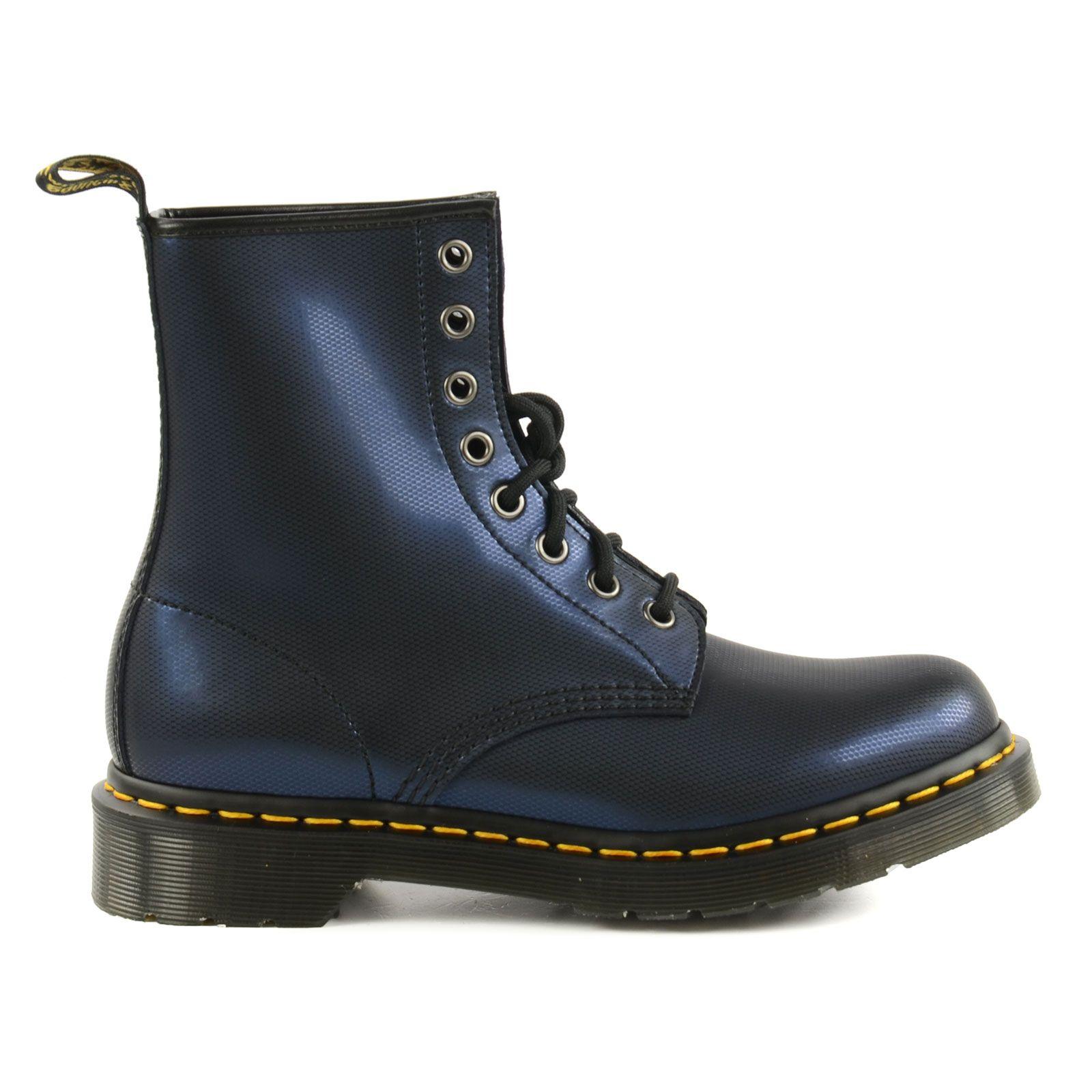 Metallic look dark blue Dr. Martens boots - Dr. Martens laarzen met blauwe  metallic