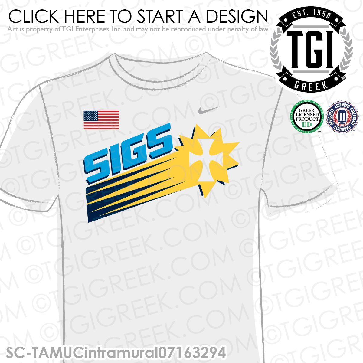 TGI Greek - Sigma Chi - Intramurals - Greek Apparel #tgigreek #sigmachi