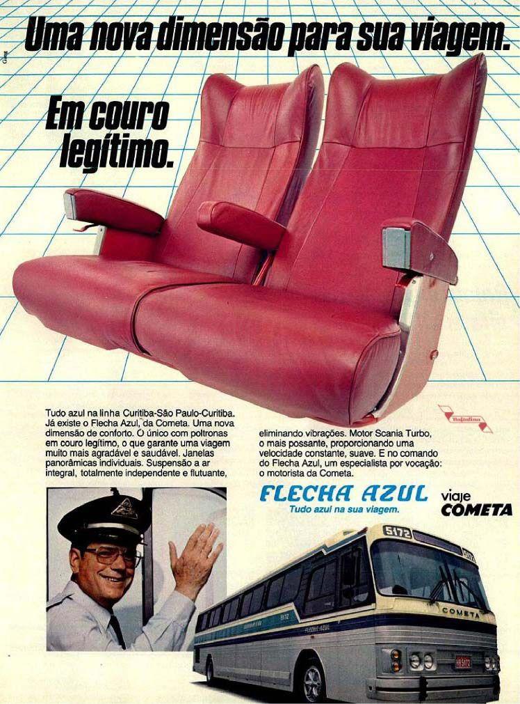 Viação Cometa e ônibus Flecha Azul (com novos bancos de couro) Bus glamour  | Viação cometa, Carro brasileiros, Caminhões vintage