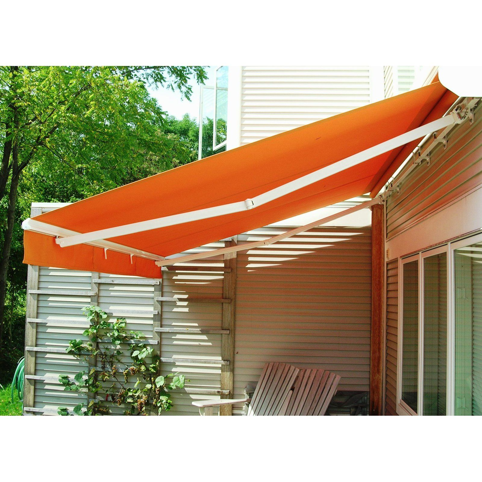The Perfect Shade Creator 16 X 11 Ft Manual Retractable Awning Www Hayneedle Com Retractable Awning Outdoor Awnings Patio Shade