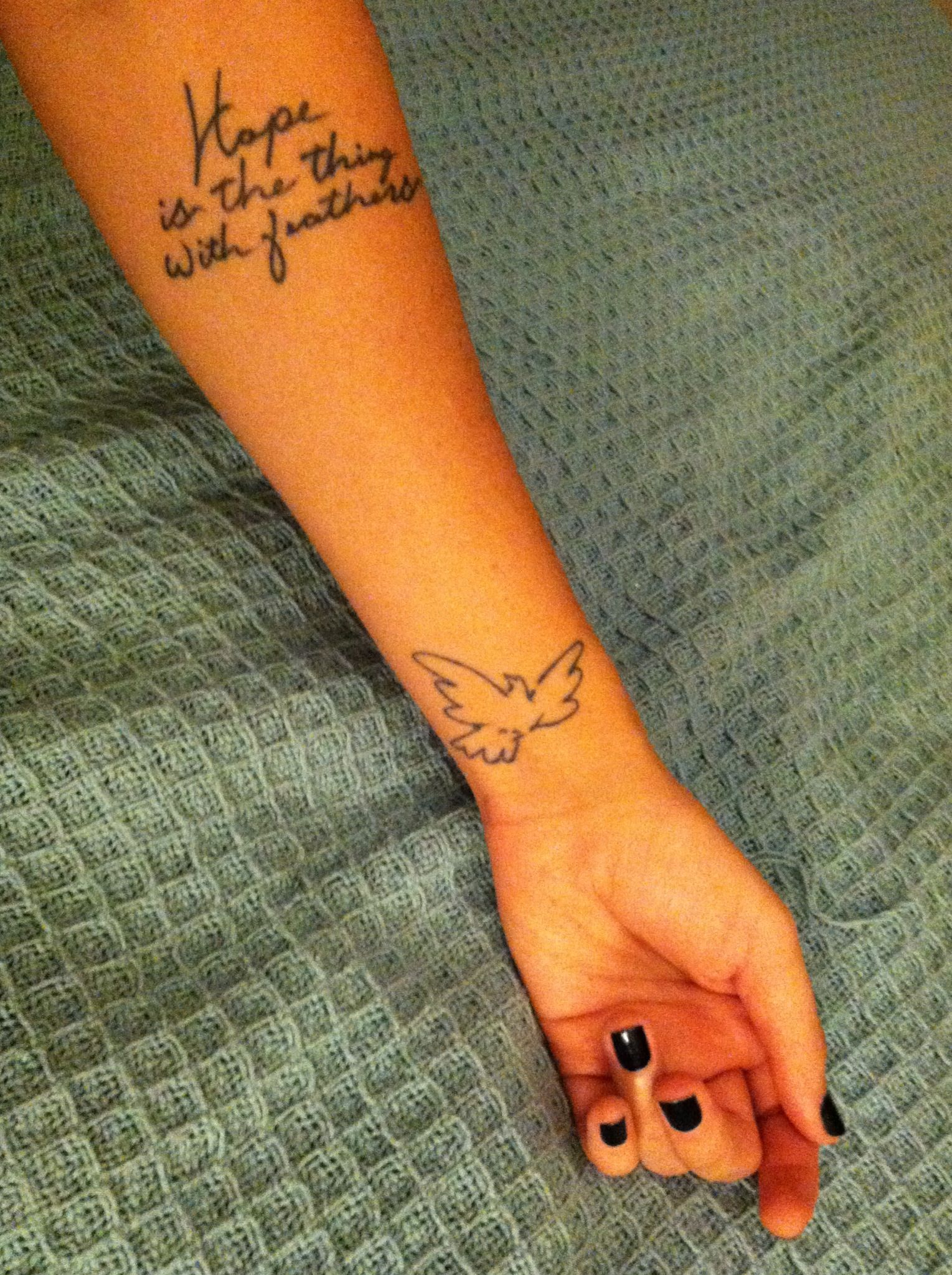 Hope Is The Thing With Feathers Ink Dreams Tattoos Feather