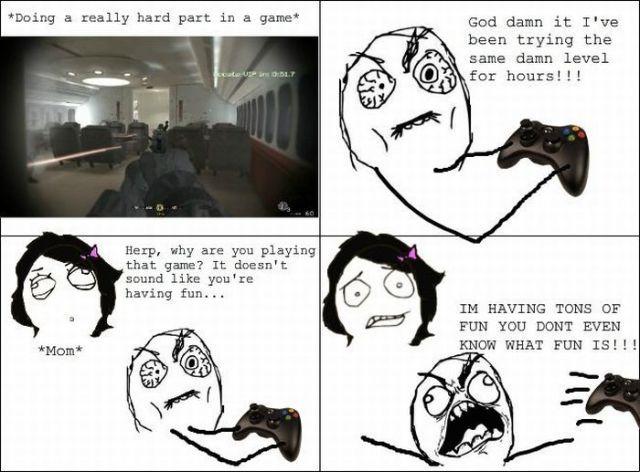 Funny Rage Comics Video Games Meme sooooooooo true!