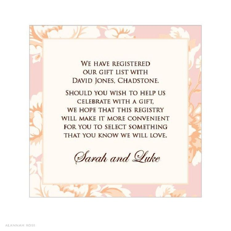 bridal shower invitation gift card wording