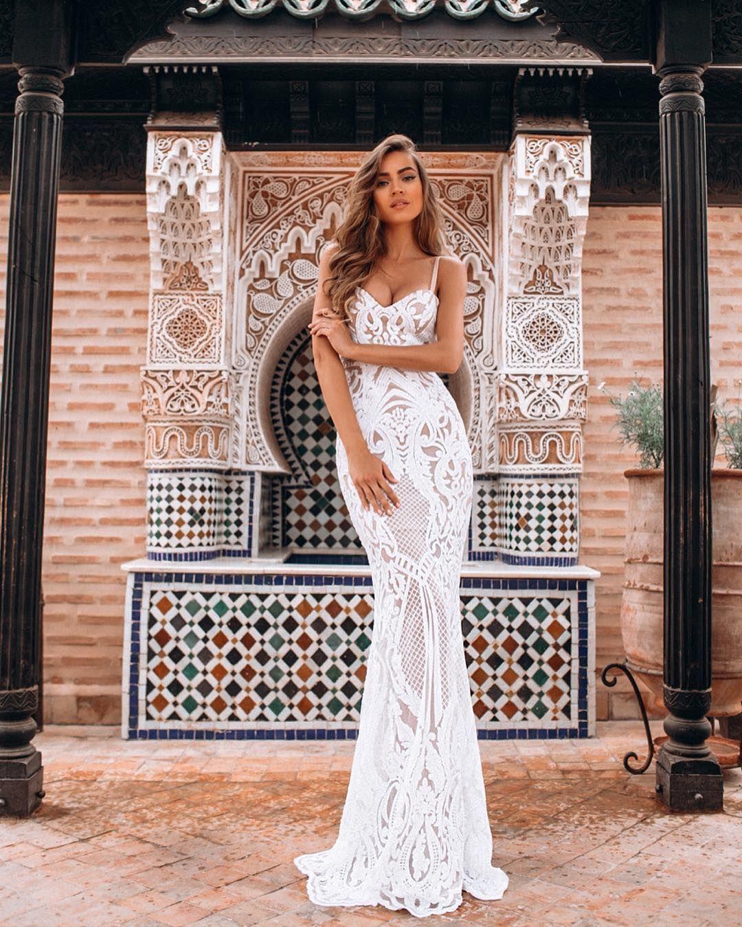 3517fa9d756 Malina Fashion круизная коллекция 2018. Белое кружевное платье в пол  Кружевное Свадебное Платье