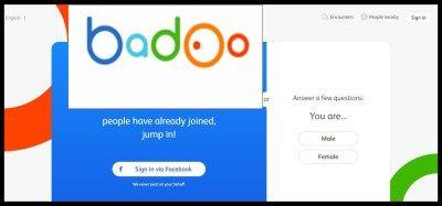Badoo facebook login