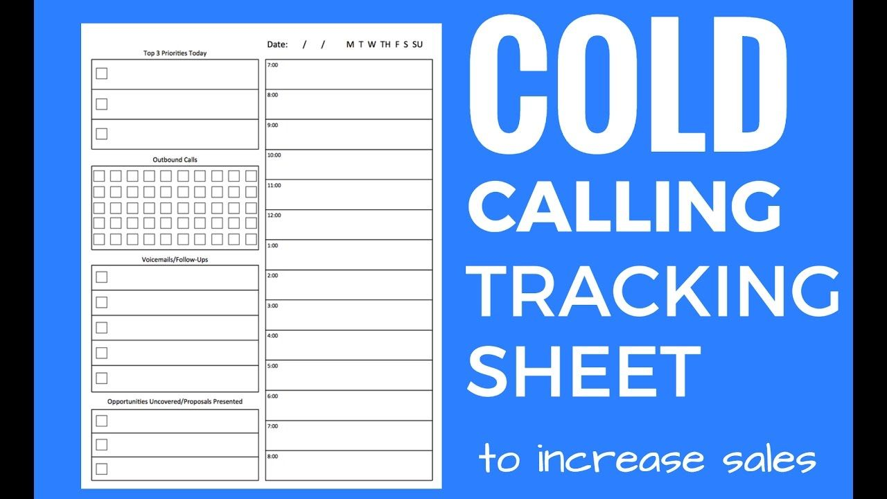 Cold Call Tracking Sheet And Tips  Sales Planner