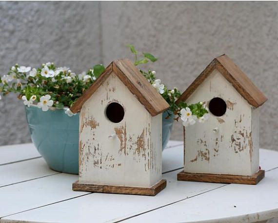 wood bird house, wooden birdhouse, painted bird #housewares #homedecor @EtsyMktgTool http://etsy.me/2id0EtU #woodbirdhouse #woodenbirdhouse