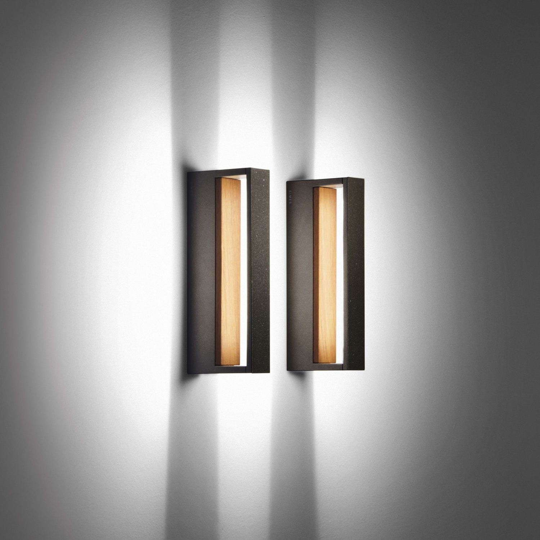 Contemporary Wall Light Outdoor Glass Teak Cool By Matteo Thun Simes Luci