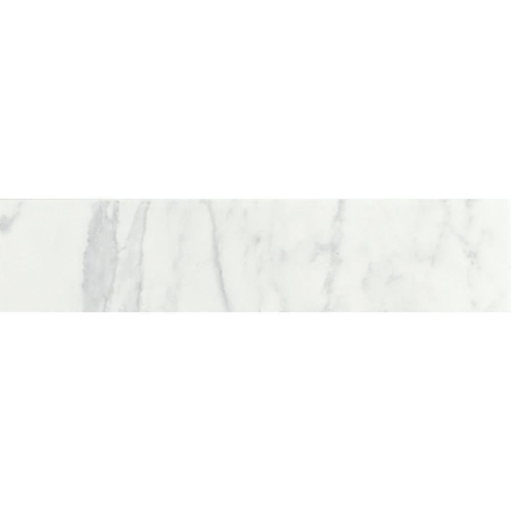 Daltile Marissa Carrara 3 In X 10 In Ceramic Bullnose Wall Tile 0 208 Sq Ft Piece