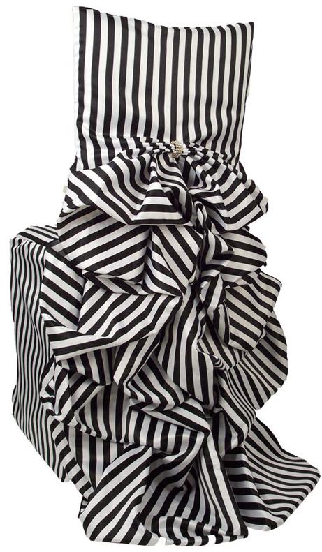 Kate Spade NY Inspired Black and White Stripes Wedding